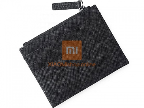 Кошелек Xiaomi 90 Points Card Holder with Coin Pouch (RMST05QB) черный фото 2