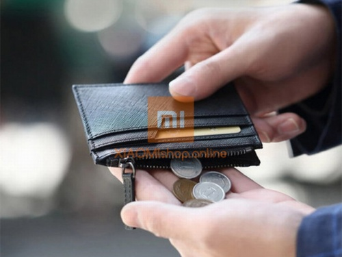 Кошелек Xiaomi 90 Points Card Holder with Coin Pouch (RMST05QB) черный фото 4