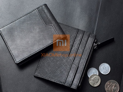 Кошелек Xiaomi 90 Points Card Holder with Coin Pouch (RMST05QB) черный фото 5
